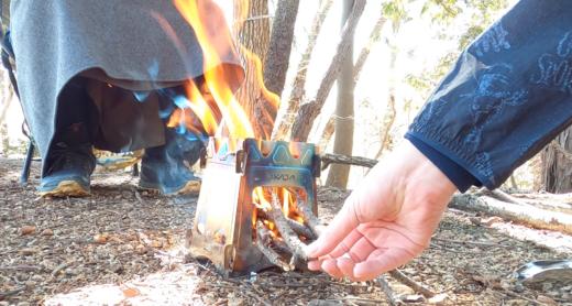 【旅エッセイ】裏山で焚き火